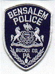 Bensalem Police Patch (white) (PA)