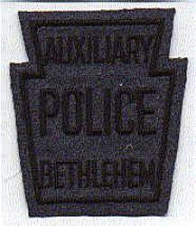 Bethlehem Aux. Police Patch (felt) (PA)