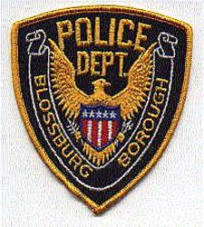 Blossburg Borough Police Patch (gold edge)(PA)