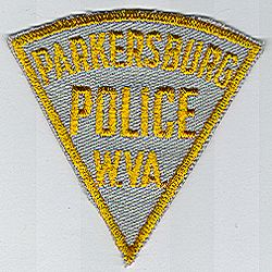 Parkersburg Police Patch (small, tan/gold) (WV)