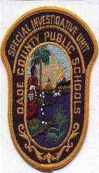 School: FL, Dade Co. Public School Spec Investigative Unit Patch