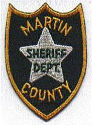 Sheriff: FL, Martin Co. Sheriffs Dept. Patch (white star)