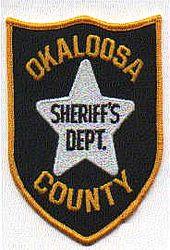 Sheriff: FL, Okaloosa Co. Sheriffs Dept. Patch (white star)