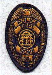 Rome Police Patch (blue edge, badge size) (GA)