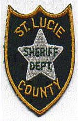 Sheriff: FL, St. Lucie Co. Sheriff Patch (green/gold)