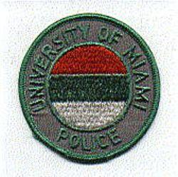 School: FL. Univ. of Miami Patch (green edge)