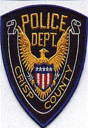 Crisp Co. Police Patch (blue edge) (GA)