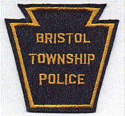 Bristol Twp. Police Patch (gold trim, felt) (PA)