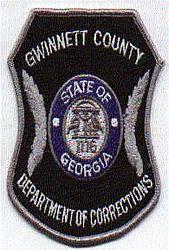Gwinnett Co. Dept. of Corrections Patch (GA)