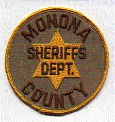 Sheriff: IA, Monona Co. Sheriffs Dept. Patch (brown letters)