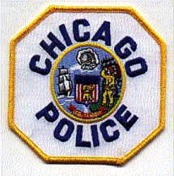 Chicago Police Patch (yellow edge/blue letters,twill) (IL)