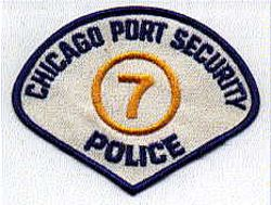 Chicago Port Security #7 Police Patch (IL)