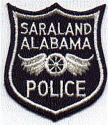 Saraland Police Patch (blue/white) (AL)