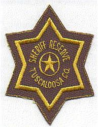 Sheriff: AL, Tuscaloosa Co. Sheriffs Reserve Patch