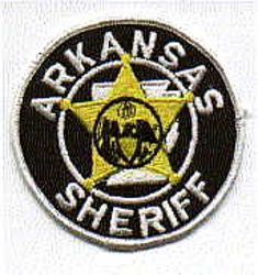 Sheriff: AR, Sheriffs Dept. Patch (white letters/edge)