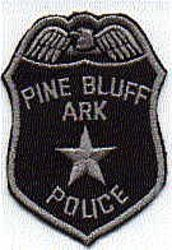Pine Bluff Police Patch (star/gray edge) (AR)