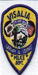 Visalia Police Patch (cap size) (CA)
