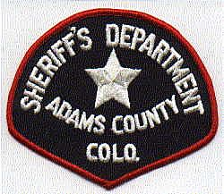 Sheriff: CO, Adams Co. Sheriffs Dept. Patch