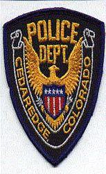 Cedaredge Police Patch (CO)