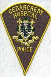 Cedarcrest Hospital Police Patch (tan) (CT)
