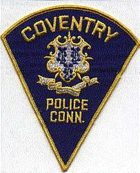 Coventry Police Patch (blue/triangular)(CT)