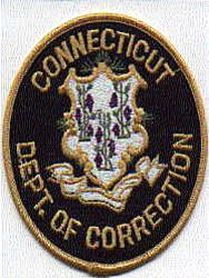 Dept. of Corrections Patch (round,black/tan letters)(CT)