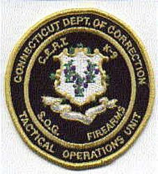 Dept. of Corrections Tactical Operations Patch (CT)