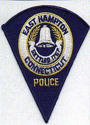 East Hampton Police Patch (blue edge) (CT)
