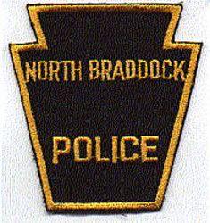 North Braddock Police Patch (black/gold, twill) (PA)