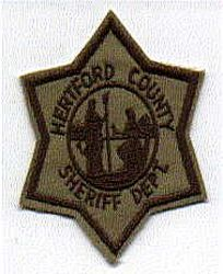 Sheriff: NC, Hertford Co. Sheriffs Dept. Patch (star shape)