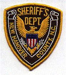 Sheriff: NC, New Hanover Co. Sheriffs Dept. Patch (color)