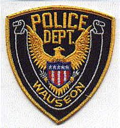 Wauseon Police Patch (gold edge) (OH)