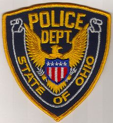 State of Ohio Police Patch (gold edge) (OH)