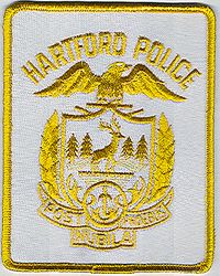Hartford Police Patch (white/gold) (CT)