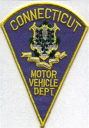 Motor Vehicle Dept. Patch (light blue) (CT)
