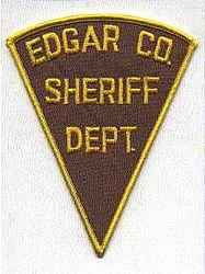 Sheriff: IL, Edgar Co. Sheriffs Dept. Patch (yellow/brown)