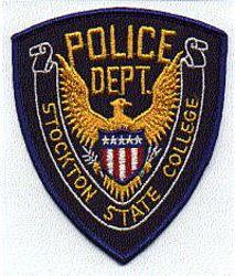 School: CA, Stockton State College Police Patch