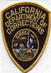 Dept. of Corrections Patch (small) (CA)