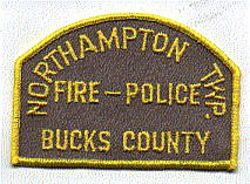 Northampton Twp. Fire Bucks Co. Police Patch (PA)