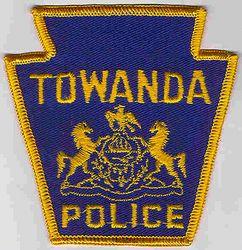 Towanda Police Patch (light blue/gold) (PA)