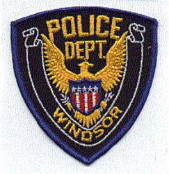 Windsor Police Patch (blue edge) (PA)