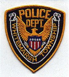 Whitemarsh Twp. Police Patch (gold edge) (PA)