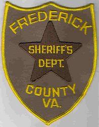 Sheriff: VA, Frederick Co. Sheriffs Dept. Patch