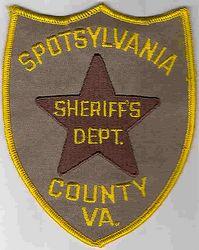 Sheriff: VA. Spotsylvania Co. Sheriffs Dept. Patch
