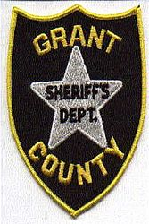 Sheriff: WV. Grant Co. Sheriffs Dept. Patch (black/gold)