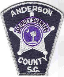 Sheriff: SC. Anderson Co. Deputy Sheriff Patch (large/tree
