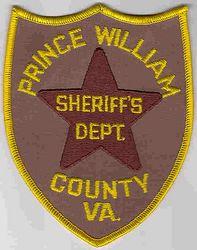 Sheriff: VA. Prince William Co. Sheriffs Dept. Patch (large)