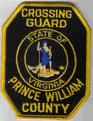 Prince William Co. Cross Guard Patch (state seal/gold edge) (VA)