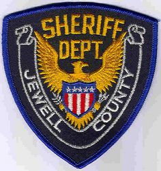 Sheriff: KS, Jewell Co. Sheriffs Dept. Patch (white letters)