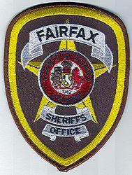 Sheriff: VA, Fairfax Co. Sheriffs Office Patch (black letters)